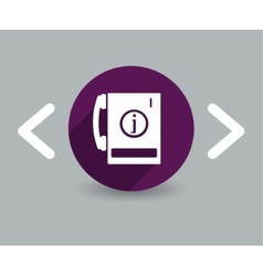 Telephone Information icon vector image vector image