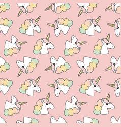 unicorns seamless pattern background vector image