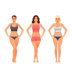 young woman with healthy slim body vector image vector image