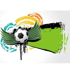 Football background grunge vector image vector image