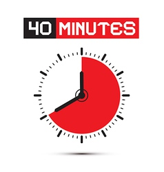 Forty Minutes Watch - Clock vector image vector image