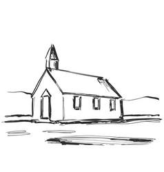 house sketch hand drawn cartoon vector image vector image