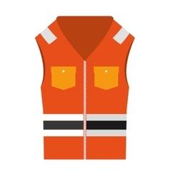 jacket uniform security icon vector image