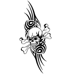 skull bones tribal vector image