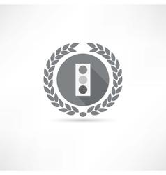 traffic icon vector image