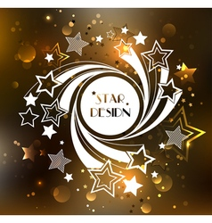 White Banner with Stars vector image vector image