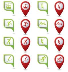 Winter sport icons set vector