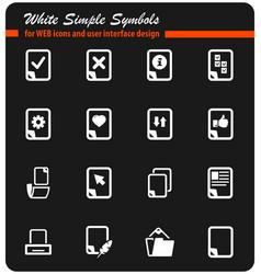 Documents icon set vector