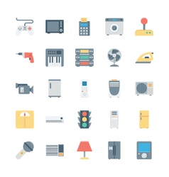 Electronics Colored Icons 2 vector image vector image