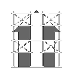 image of scaffolding vector image vector image