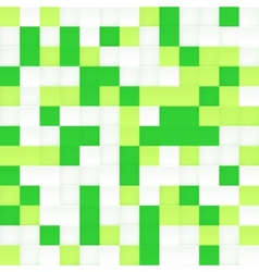 White and green mosaic seamless pattern vector image