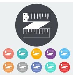 Centimetr icon vector image