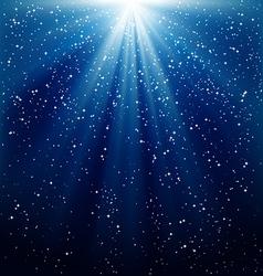 Christmas snowfall vector image