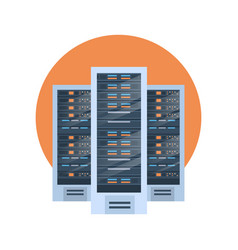 data center icon cloud computer connection hosting vector image vector image
