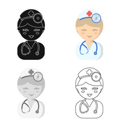 doctor cartoon icon for web and vector image