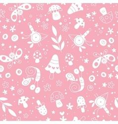 flowers birds mushrooms butterflies snails nature vector image vector image