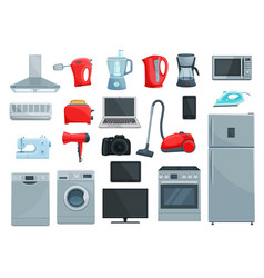 home appliances and kitchenware icons vector image