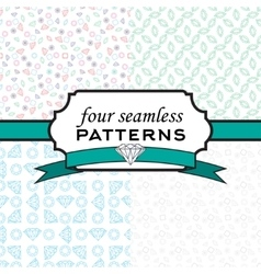 Set seamless pattern with different diamonds vector image