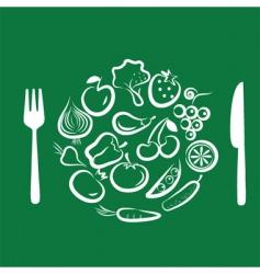 Vegetables for dinner vector