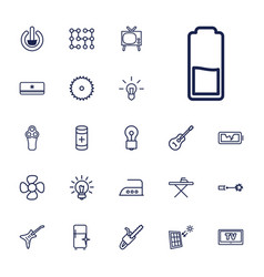 22 electric icons vector