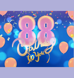 88 years anniversary and birthday with template vector