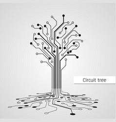 Abstract circuit tree technology design element vector