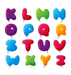 Balloon alphabet set vector image