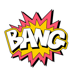 Bang explosion comics style typography lettering vector
