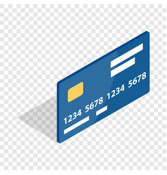 Bank card isometric icon vector