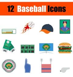 Baseball icon set vector image