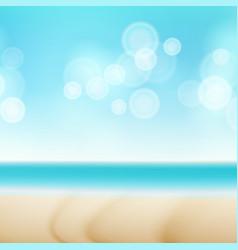 beach summer seaside background bokeh sky vector image