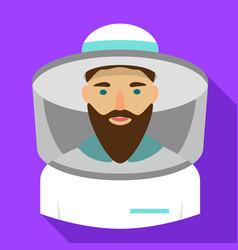 Beekeeper icon flat style vector