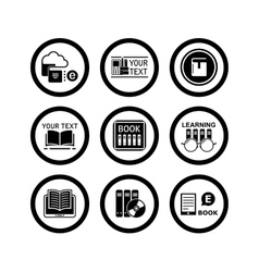 book concept icons vector image
