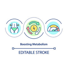Boosting metabolism concept icon vector