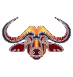 Bright bull portrait zodiac Taurus sign vector image