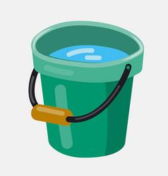 Bucket with water vector
