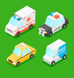 Cartoon Isometric Cars vector