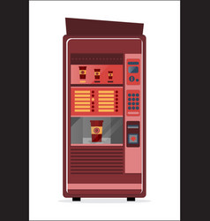 coffee vending machine icon vector image