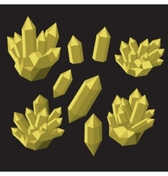 Colorful shiny bright crystals Polygon stone vector