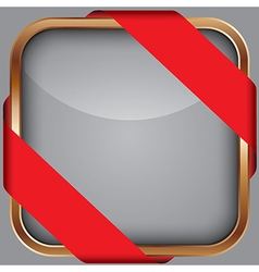 Cooper blank app icon with red ribbon vector
