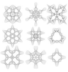 Creative geometric ornaments vector