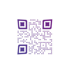 creative qr code icon made out of stars isolated vector image