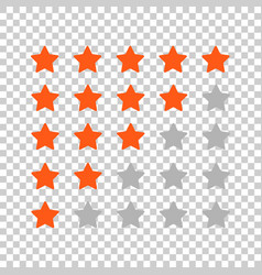 Customer review business concept stars rank vector