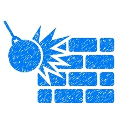 Destruction Grainy Texture Icon vector