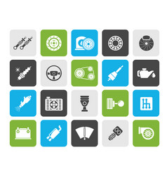 Different car part and services icons vector