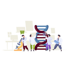 dna technology scientists learning biological vector image