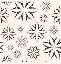 Dotted floral seamless pattern ornament vector
