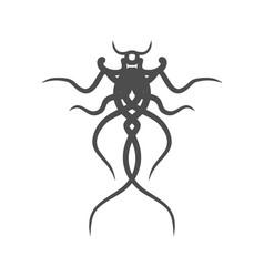 fantasy tattoo monster vector image