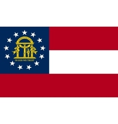 Flag of Georgia state correct size colors vector