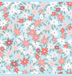 flower botanical seamless pattern vector image